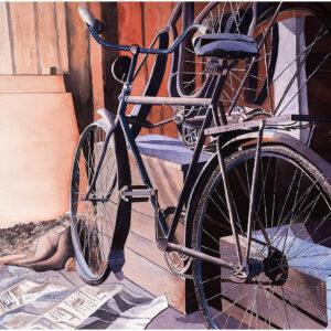 Cykeln akvarell 75x105cm - Mats Ljungbacke