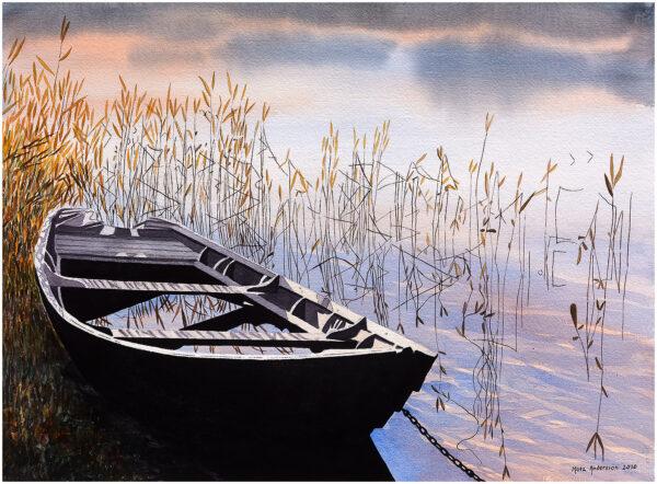 Ekan akvarell 105x75cm - Mats Ljungbacke