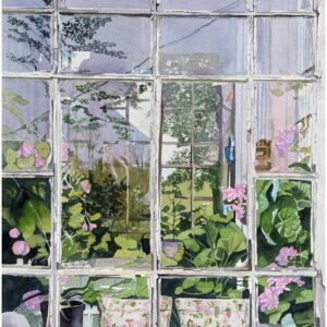 Glasveranda I akvarell 55x73cm - Mats Ljungbacke