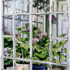 Glasveranda II akvarell 42x55cm - Mats Ljungbacke