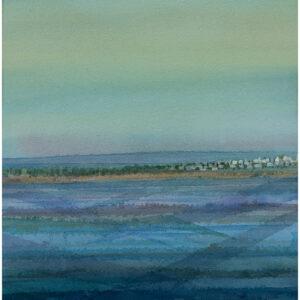 Himmel möter hav II akvarell 35x54cm - Mats Ljungbacke