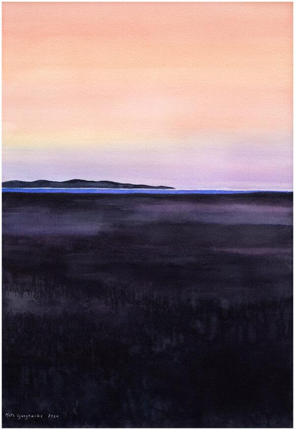 Himmel möter hav III akvarell 35x54cm - Mats Ljungbacke