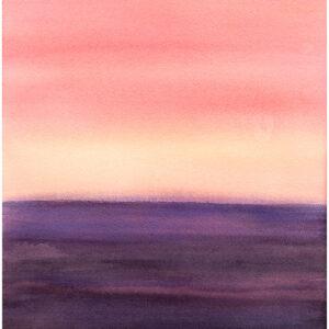 Himmel möter hav IV akvarell 35x54cm - Mats Ljungbacke