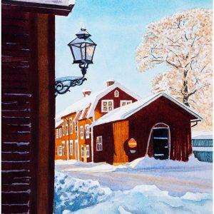 Laxbrogatan Kopparberg akvarell 31x41cm - Mats Ljungbacke